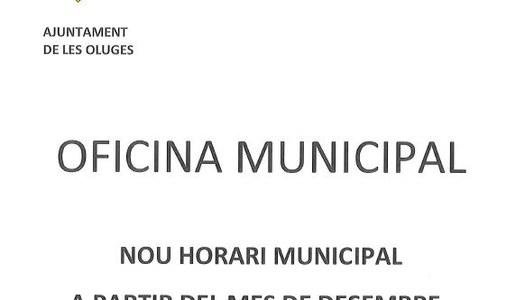 Canvi de l'horari municipal