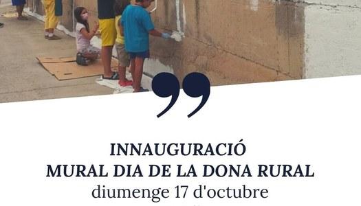 Diumenge 17 d'octubre s'inaugurarà el mural del Dia de la Dona Rural a les Oluges