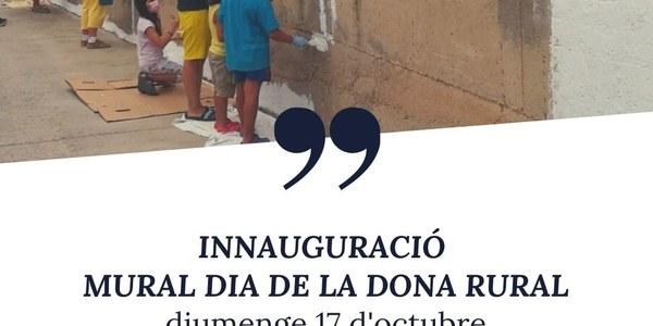Cartell oficial de l'acte d'inaguració del mural del Dia de la Dona Rural