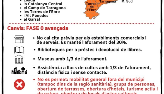 Informació municipal per la Fase I del desconfinament