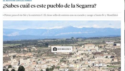 """Les Oluges, ha estat escollit com l'indret a esbrinar dins la secció """"Els reptes dels lectors"""" del diari La Vanguardia"""